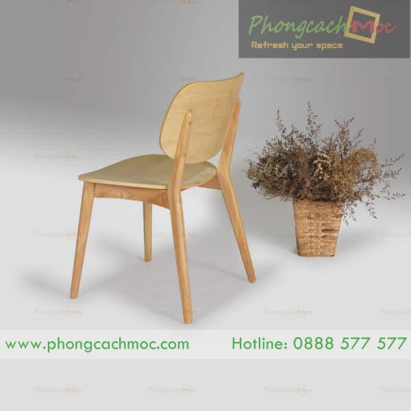 mặt sau của ghế gỗ cafe mc149