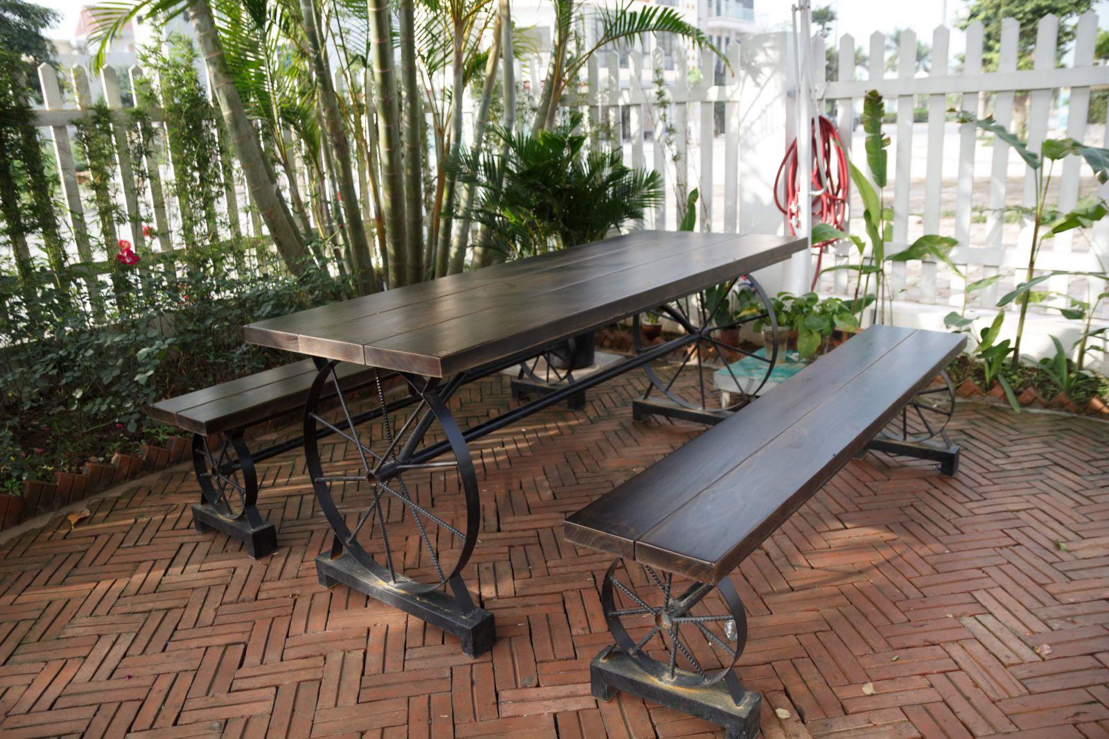 bộ bàn ghế cafe sân vườn mv310 pcm sản xuất